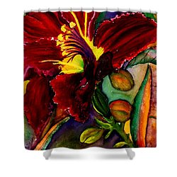A Lily A Day Shower Curtain by Lil Taylor
