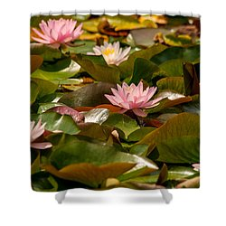 A Lily Carpet Shower Curtain by Sabine Edrissi