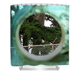 Shower Curtain featuring the photograph A Limited Point Of View by Ethna Gillespie