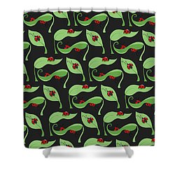A Litte Bug Shower Curtain by Debra  Miller