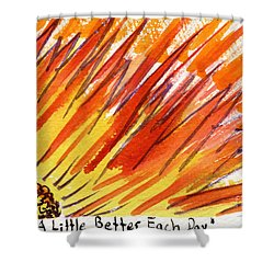 A Little Better Each Day  Shower Curtain