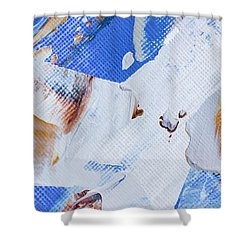 Shower Curtain featuring the painting A Little Blue by Heidi Smith