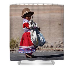 A Little Girl In The  High Plain Shower Curtain