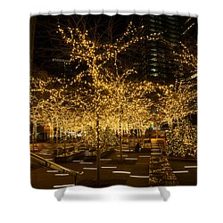 A Little Golden Garden In The Heart Of Manhattan New York City Shower Curtain