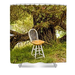 Shower Curtain featuring the photograph A Little Solitude by Kate Brown