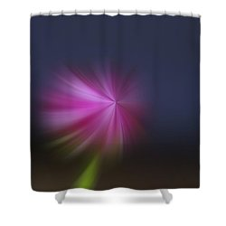 A Little Whirled Lollipop Shower Curtain by Jeff Swan