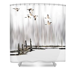 A Little Winter Magic Shower Curtain