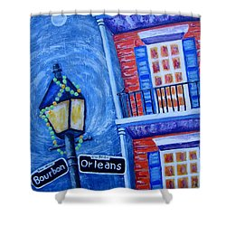 A Little Woozy Shower Curtain by Suzanne Theis