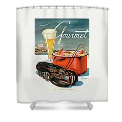A Lobster And A Lobster Pot With Beer Shower Curtain