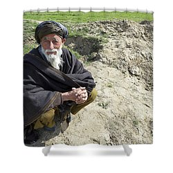 A Local Afghan Man Near A Village Shower Curtain by Stocktrek Images