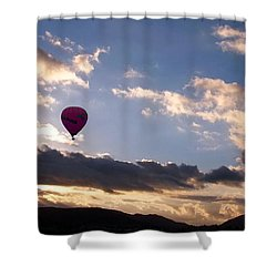 A Lone Flight Shower Curtain by Glenn McCarthy Art and Photography