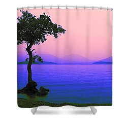 Lonely Tree II Shower Curtain