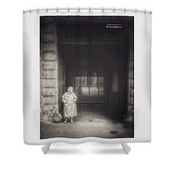 Shower Curtain featuring the photograph A Long Boring Wait... by Stwayne Keubrick