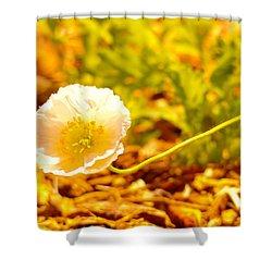 A Long Stemmed Flower Shower Curtain by Jeff Swan