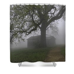 A Look Back In Time Shower Curtain by Lynn Bauer