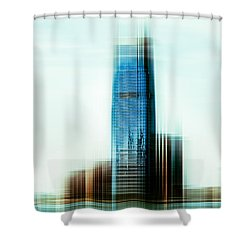A Look To New Jersey II - Steel Shower Curtain by Hannes Cmarits