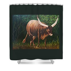 A Lot Of Bull, Watusi  Shower Curtain