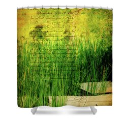 A Love Letter From Summer Shower Curtain by Lois Bryan