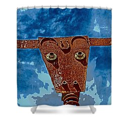 A Lucky Bull Shower Curtain by Lynn Sprowl