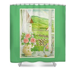 A Lucky View Shower Curtain
