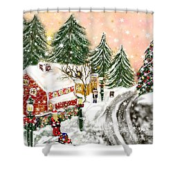 A Magical Frost Shower Curtain