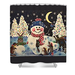 A Magical Night In The Snow Shower Curtain