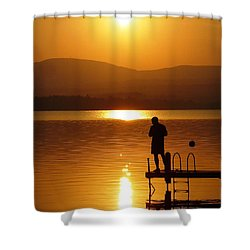 A Man And His Thoughts  Shower Curtain by Mike Ste Marie