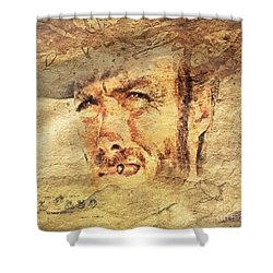 A Man With No Name Shower Curtain