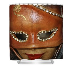 A Mask Shower Curtain by Tommytechno Sweden