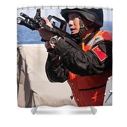 A Member Of The Chinese Peoples Shower Curtain by Stocktrek Images