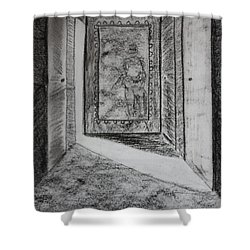 A Memory 3 Shower Curtain by Roger Cummiskey