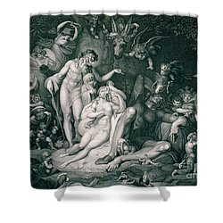 A Midsummer Nights Dream Shower Curtain by Henry Fuseli