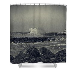 A Mighty Wind Shower Curtain by Everet Regal