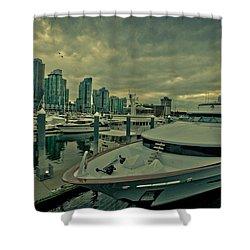 A Million Dollar Ride Yacht  Shower Curtain by Eti Reid