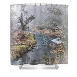 A Misty Morning In Bridgetown Shower Curtain