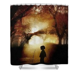 A Moment Beyond Time Shower Curtain