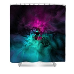 A Moment Of Uncertain Clarity Shower Curtain by Elizabeth McTaggart
