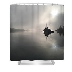 A Moody Morning Shower Curtain