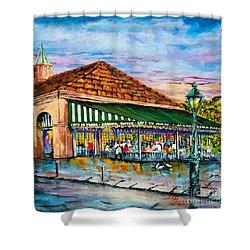 A Morning At Cafe Du Monde Shower Curtain by Dianne Parks