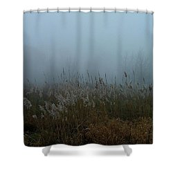A Morning Fog Shower Curtain