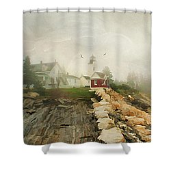 A Morning In Maine Shower Curtain by Darren Fisher