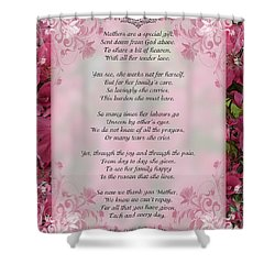 A Mother's Love  8x10 Format Shower Curtain by Debbie Portwood