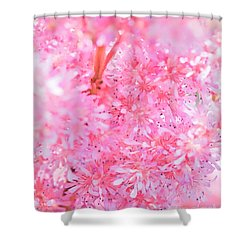 A Natural Pink Bouquet Shower Curtain