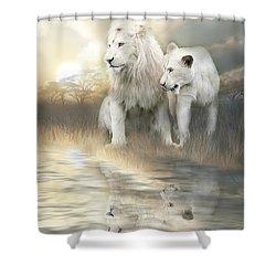 A New Beginning Shower Curtain by Carol Cavalaris
