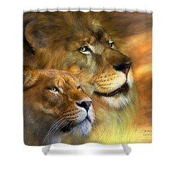 A New Dawn Shower Curtain by Carol Cavalaris