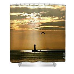 Roker Pier Sunderland Shower Curtain