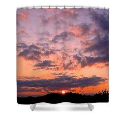 A New Day Begins Shower Curtain by Rita Mueller