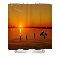 A New Day Dawns... Over Dock Remains Shower Curtain