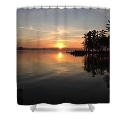 A New Day Shower Curtain by M West