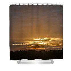 A New Day - Sunrise In Texas Shower Curtain